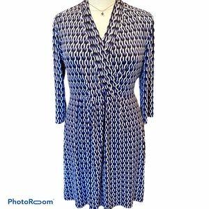 Sz XL Liz Claiborne Faux wrap front knit dress-